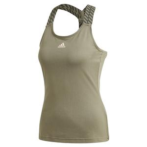 Women`s Y-Back Tennis Tank Legacy Green and Pink Tint