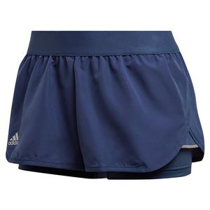 Women`s Club 2.5 Inch Tennis Short Tech Indigo