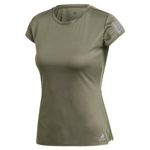 Women`s Club 3 Stripe Tennis Top Legacy Green
