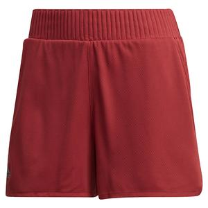 Women`s Club High-Rise 4 Inch Tennis Short Legacy Red
