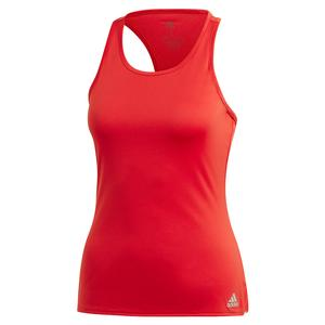 Women`s Club Tennis Tank Scarlet and Grey Three