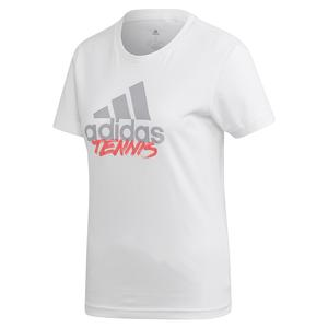 Women`s Adi Tennis Tee White