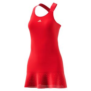 Women`s Y-Back Tennis Dress Scarlet and Haze Coral