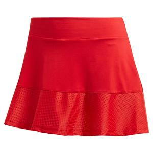 Women`s Match 13 Inch Tennis Skort Scarlet and Haze Coral