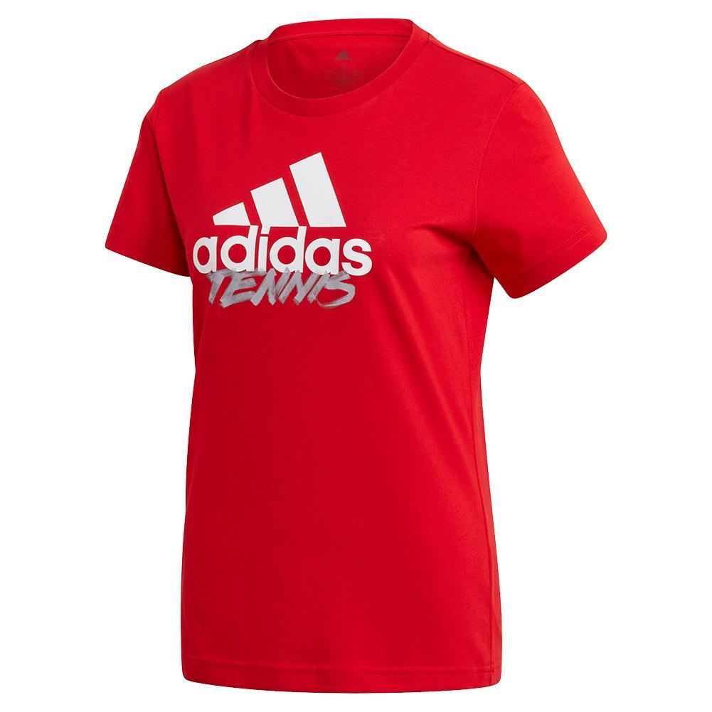 Women's Adi Tennis Tee Scarlet