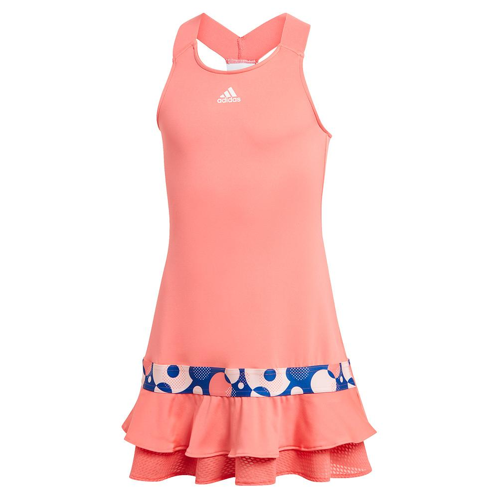 Girls ` Frill Tennis Dress Semi Flash Red