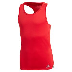 Girls` Club Tennis Tank Scarlet