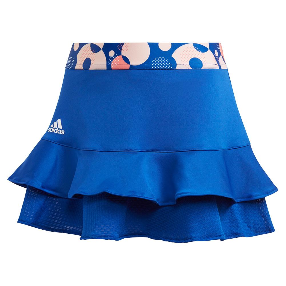 Girls ` Frill Tennis Skort Team Royal Blue