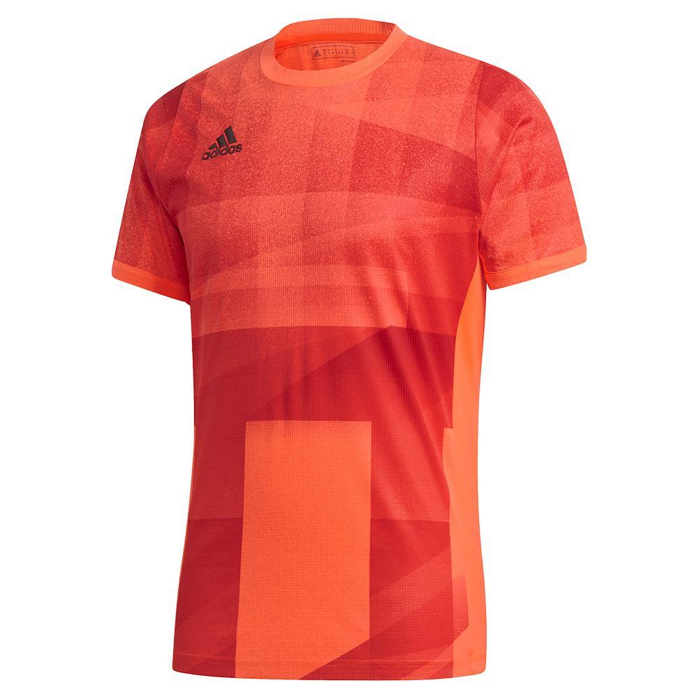 Men's Heat.Rdy Freelift Olympic Tennis Top App Solar Red