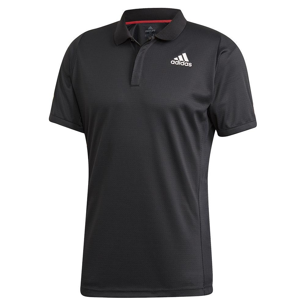 Men's Heat.Rdy Freelift Tennis Polo Black