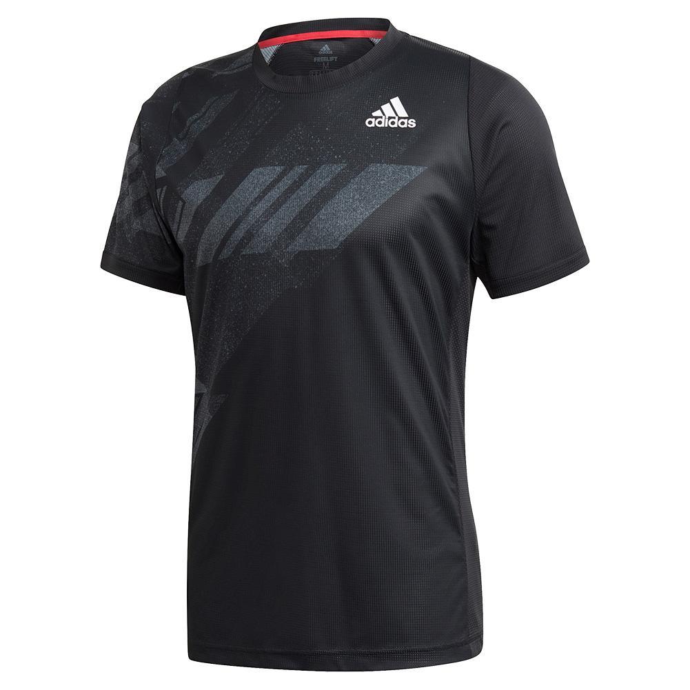 Men's Heat.Rdy Freelift Print Tennis Top Black