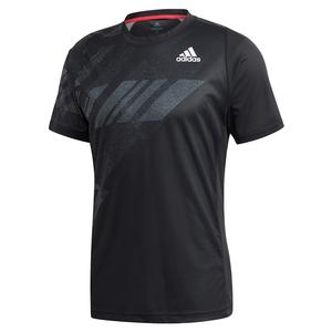 Men`s HEAT.RDY Freelift Print Tennis Top Black
