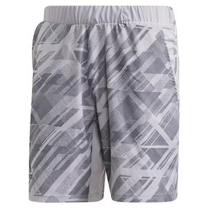 Men`s Printed 7 Inch Tennis Short Glory Grey