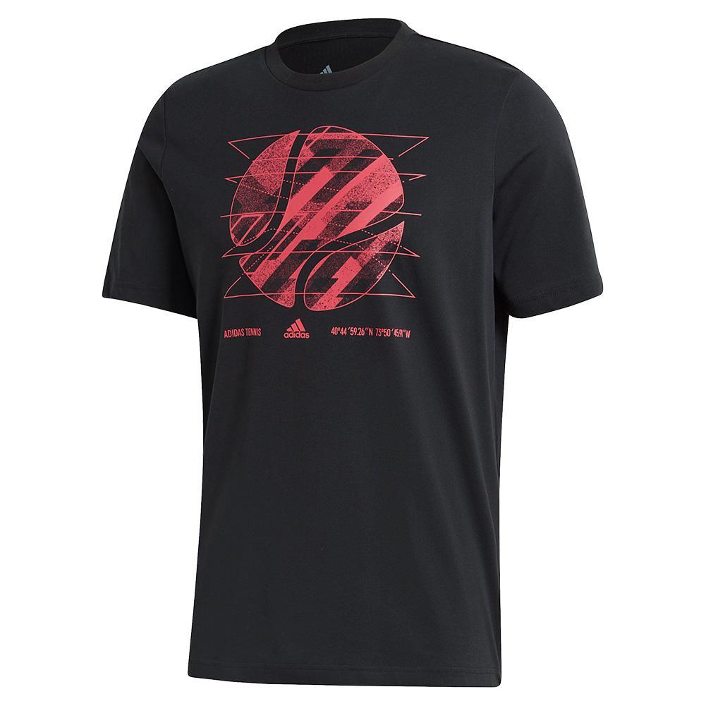 Men's Us Short Sleeve Tennis Tee Black
