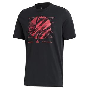 Men`s US Short Sleeve Tennis Tee Black