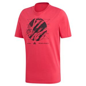 Men`s US Short Sleeve Tennis Tee Power Pink