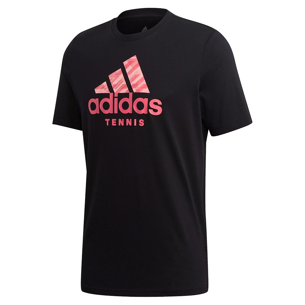 Men's Category Badge Of Sport Tennis Tee Black