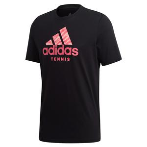 Men`s Category Badge of Sport Tennis Tee Black