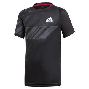 Boys` Freelift AEROREADY Print Tennis Top Black