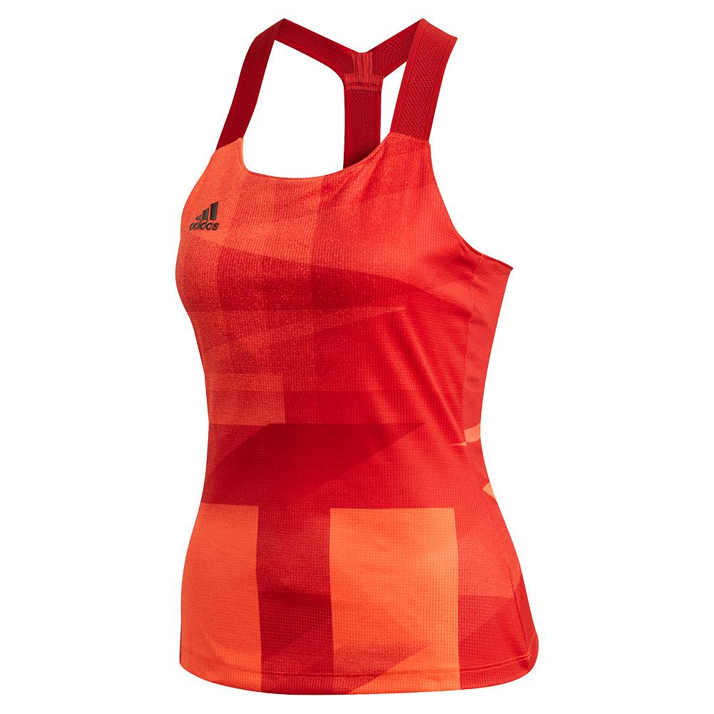 Women's Heat.Rdy Olympic Y- Back Tennis Tank App Solar Red And Scarlet