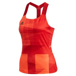 Women`s HEAT.RDY Olympic Y-Back Tennis Tank App Solar Red and Scarlet