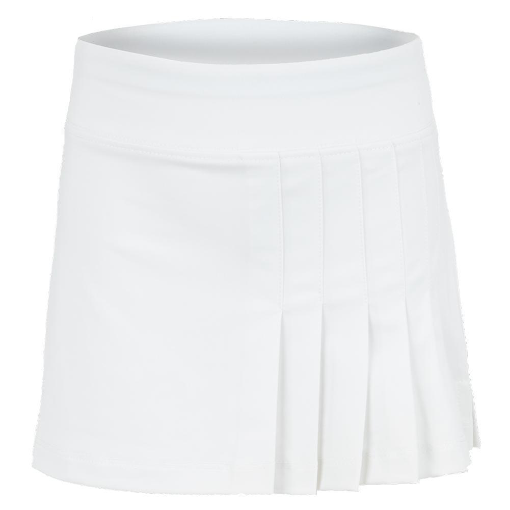 Girls'side Pleat Tennis Skort White