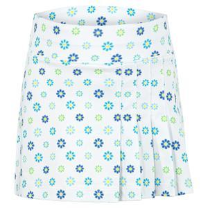 Girls` Side Pleat Tennis Skort Blossoms Print