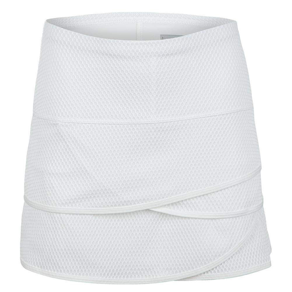 Women's Long Wavy Scallop Tennis Skort