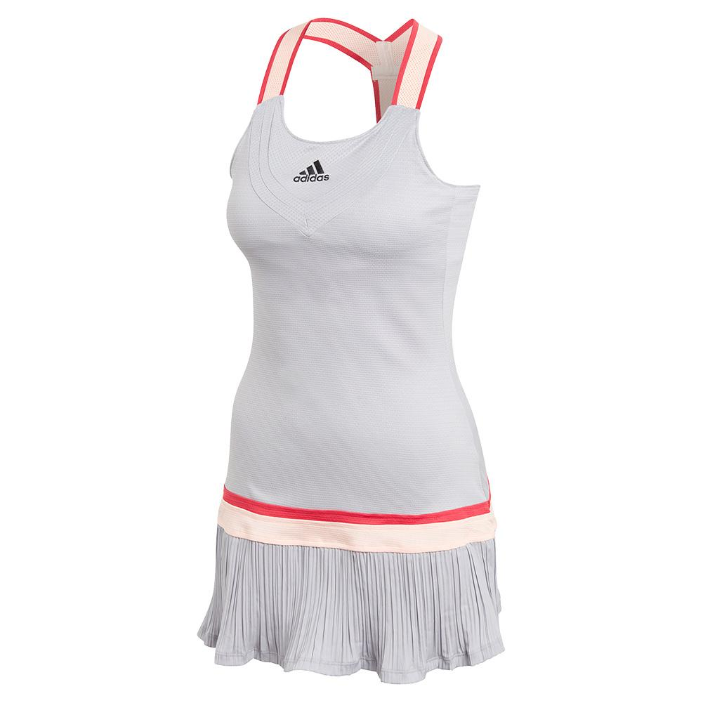 Women's Heat.Rdy Y- Back Tennis Dress Glory Grey