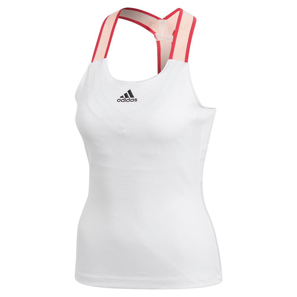 Women's Heat.Rdy Y- Back Tennis Tank White