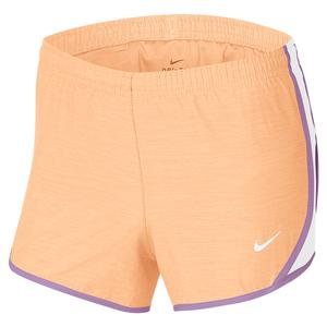 Girls` Dri-FIT Tempo Running Shorts Orange Chalk and White