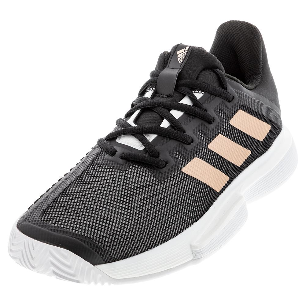 Women's Solematch Bounce Tennis Shoes Black And Copper Metallic