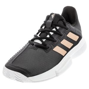 Women`s SoleMatch Bounce Tennis Shoes Black and Copper Metallic