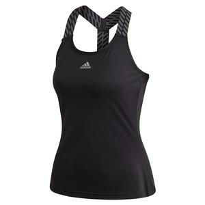 Women`s Y-Back Tennis Tank Black and Grey Three