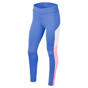 Girls` Trophy Training Tights Royal Pulse and Pink