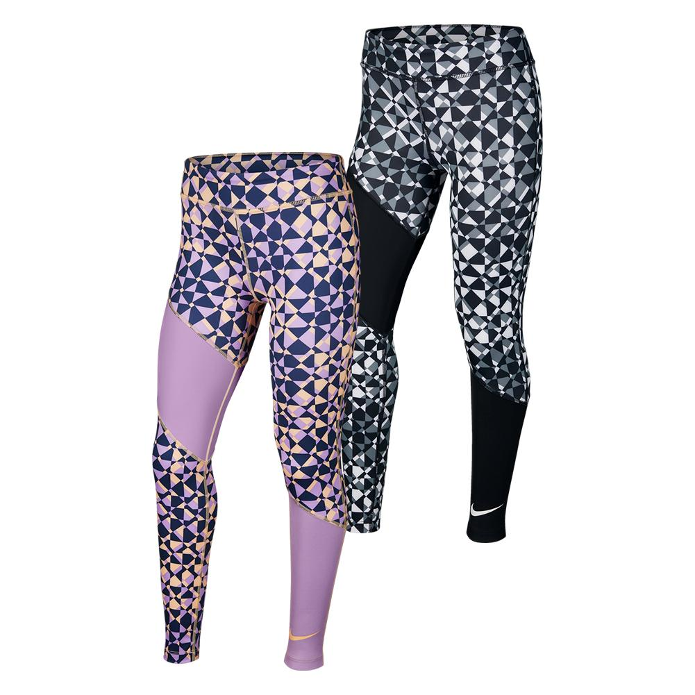Girls ` Trophy Printed Training Tights