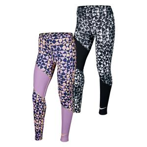 Girls` Trophy Printed Training Tights