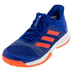 Juniors` Adizero Club K Tennis Shoes Collegiate Royal and Solar Red