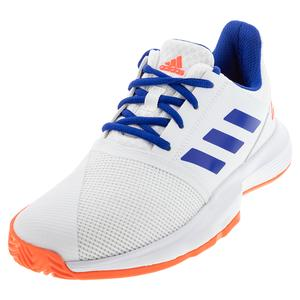Juniors` CourtJam Tennis Shoes White and Collegiate Royal
