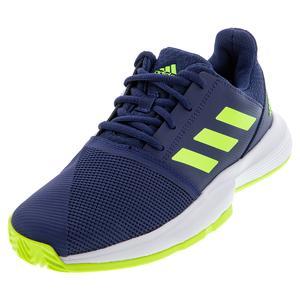 Juniors` CourtJam Tennis Shoes Tech Indigo and Signal Green
