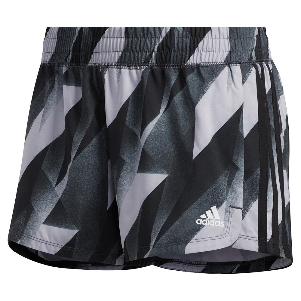 Women's 3 Stripes Pacer Training Short Black
