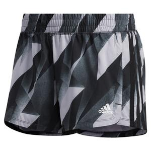 Women`s 3 Stripes Pacer Training Short Black
