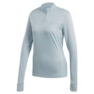Women`s Own the Run 1/4 Zip Training Top Green Tint
