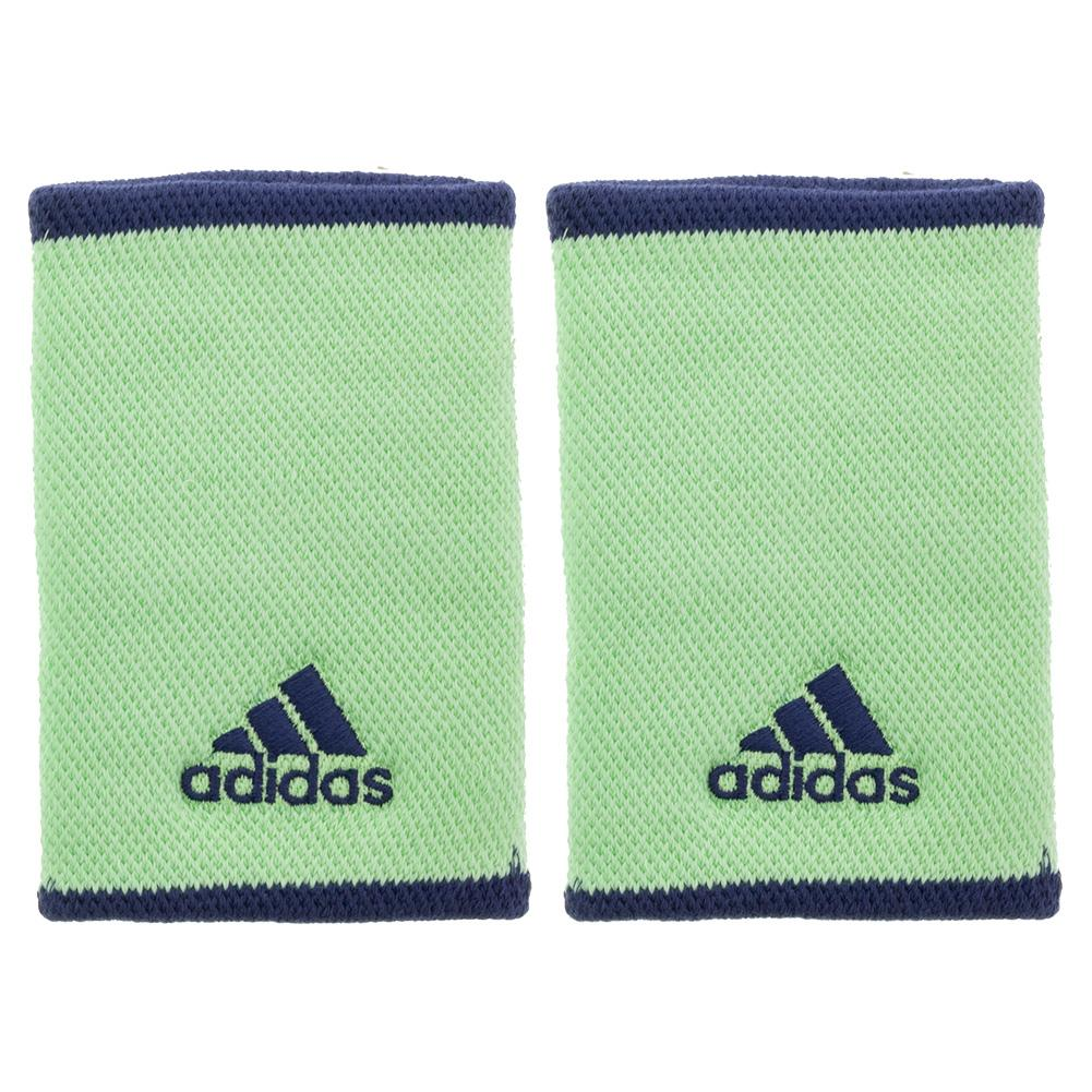 Large Tennis Wristbands Glory Mint And Tech Indigo