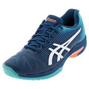 Men`s Solution Speed FF Tennis Shoes Mako Blue and White