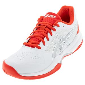 Women`s GEL-Game 7 Tennis Shoes White and Fiery Red