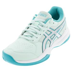 Juniors` GEL-Game 7 GS Tennis Shoes Bio Mint and Pure Silver