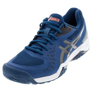 Men`s GEL-Challenger 12 Tennis Shoes Mako Blue and Gunmetal