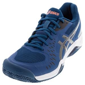 Men`s GEL-Challenger 12 Clay Tennis Shoes Mako Blue and Gunmetal