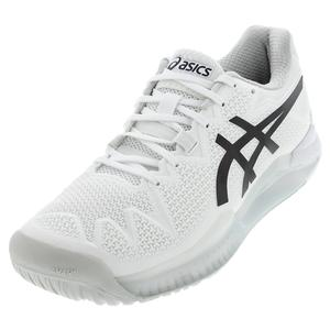 Men`s GEL-Resolution 8 Tennis Shoes White and Black